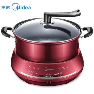 美的电火锅家用多功能大容量分体式插电韩式煮锅小型宿舍单人炒锅